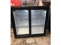 Rhino sliding door back bar fridge