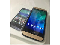 HTC M8 MINI 2 GOLD BOXED UNLOCKED ALL ACCESSORIES