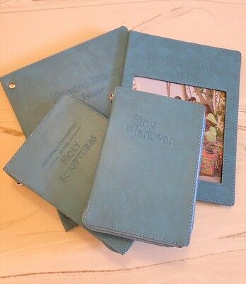 NEW WORLD TRANSLATION BIBLE COVER 4 PACK, SKY BLUE, Jehovah's Witness
