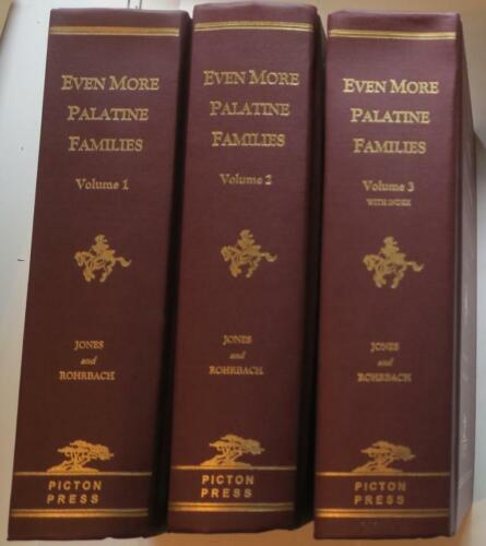 2002 FIRST EDITION:  Henry Jones, Even More Palatine Families 3 Volumes,COMPLETE