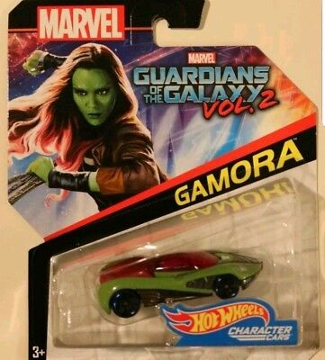 Hot Wheels Character Cars GUARDIANS OF THE GALAXY VOL 2 GAMORA, New In (Characters In Guardians Of The Galaxy 2)