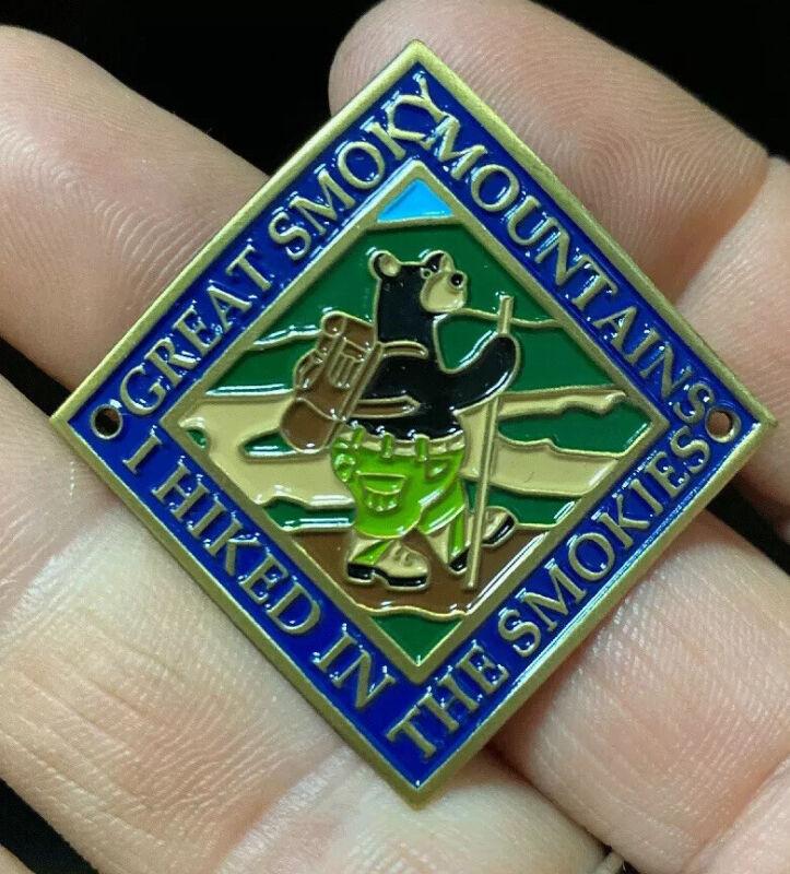 Hiking BearGreat Smoky Mountain National Park walking Medallion NEW staff