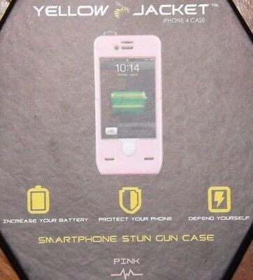 Pink Iphone Jacket - iPhone 4 Yellow Jacket phone case - Pink