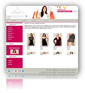 OSCommerce Fashion Store Template E-Commerce Website