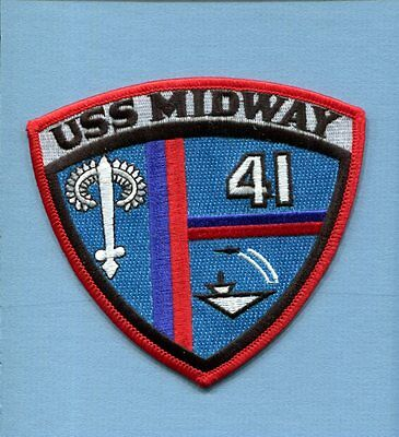 CV-41 CVA-41 CVB-41  USS MIDWAY US NAVY Ship squadron Cruise Jacket Patch