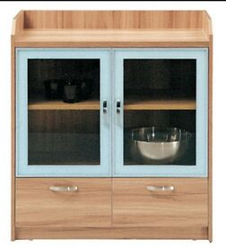 wood cabinet with drawer glass door 100% new original packaged made in china