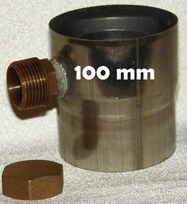 Regenwassersammler 100 mm Titan - Zink + Endkappe Regensammler Füllautomat