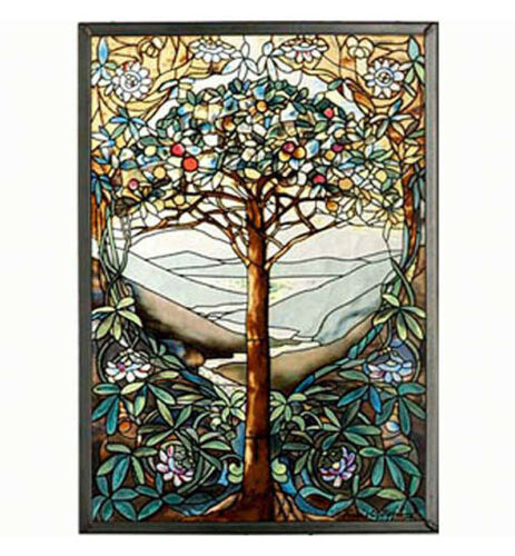 WALL ART - TREE OF LIFE ART GLASS PANEL - STAINED GLASS PANEL - SUNCATCHER