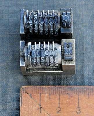2x Numerierwerk Handsatz Buchdruck Nummerierwerk Numerierwerke Typographie Typo