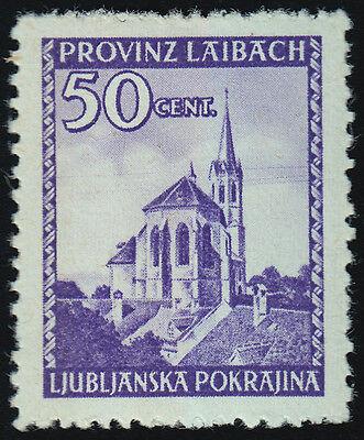 2. WK Laibach Mi.Nr. 49 I postfrisch geprüft Mi.Wert 140€ (5463)