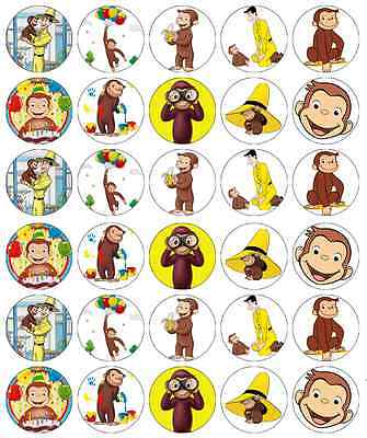 Curious George Cupcake Toppers Edible Wafer Paper BUY 2 GET 3RD FREE! (Curious George Cupcakes)