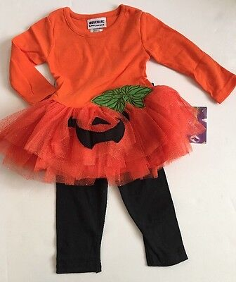12 Month Girl Halloween Costumes (Blueberi Boulevard Girls Halloween Tutu Pumpkin Costume Set Size 12 18 24)
