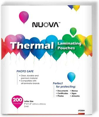 Premium Thermal Laminating Pouches 9 X 11.5letter Size3 Mil 200 Pack