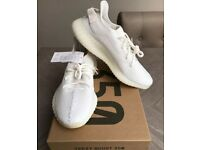 Yeezy v2 350 Boost white cream size 10 Adidas men's trainers