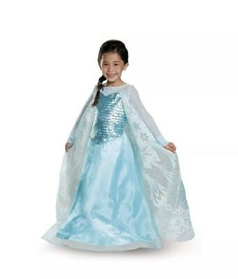 Girls Size 7/8 Elsa Frozen Costume with Ring, New! Disguise! Medium (Ring Girl Costume)