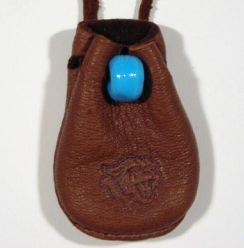 Cougar Mountain Lion Medicine Bag Pouch Buckskin 801