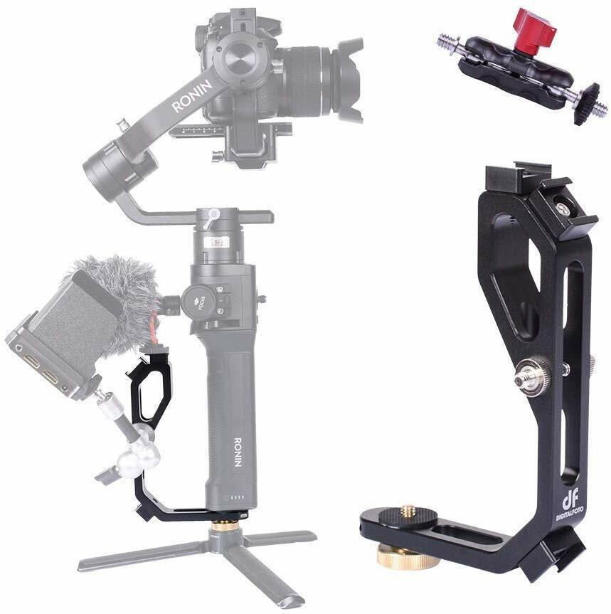 DF DIGITALFOTO M-0667 Universal L Bracket Handle Gimbal Accessory w/ Bean Grip Cameras & Photo