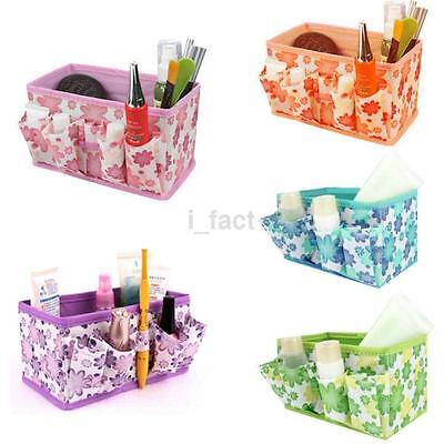 Makeup Cosmetic Jewelry Storage Box Bag Bright Organizer Foldable Container US
