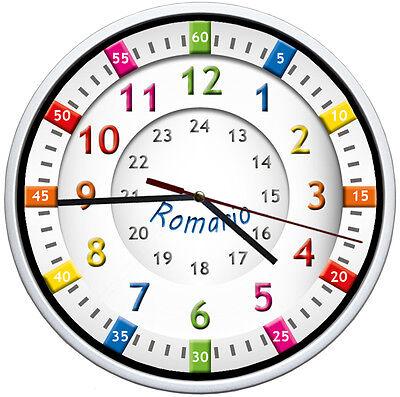 Kinder Uhr✿Lernuhr✿ Wanduhr ideal für Kinderzimmer-garten-Schule★EINSCHULUNG ()