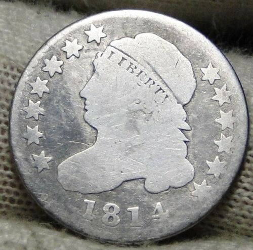 1814 Capped Bust Dime 10 Cents - Nice Coin, Free Shipping  (5909)