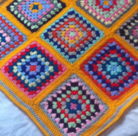 Crochet Baby Blankets - Rainbow Colours, Brand New