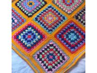 Crochet Baby Blankets - Rainbow Colours, Brand New
