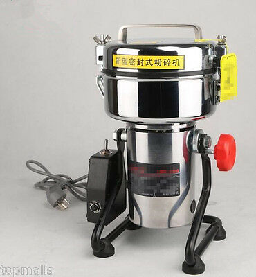 New 600g Electric Herb Grain Grinder Cereal Mill Flour Powder Machine Household