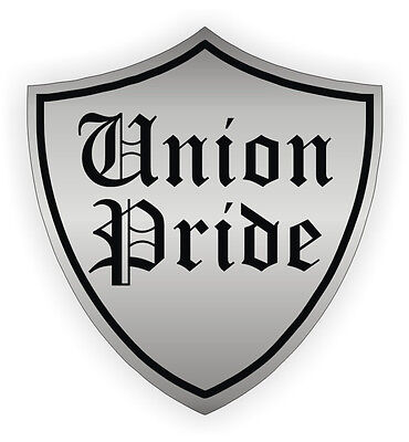 Union Pride Hard Hat Sticker Helmet Label Decal Motorcycle Foreman Laborer Usa