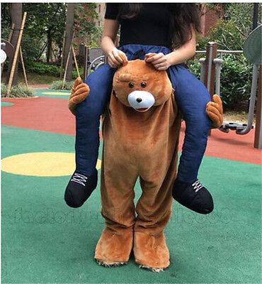 Teddybär Fahrt auf mich Tier Kostüm Maskottchen Hirsch Kostüm Outfit - Teddybär Maskottchen Kostüm