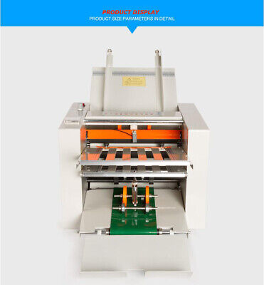 Intbuying 110v Adjustable Auto Paper Folding Machine Folder Paper