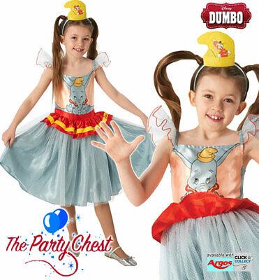 DISNEY DUMBO GIRLS TUTU DRESS COSTUME Childrens Dumbo Movie Fancy Dress - Disney Dumbo Kostüm
