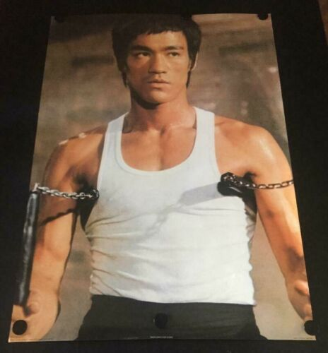 VERY RARE Vintage Bruce Lee Poster Printed in England