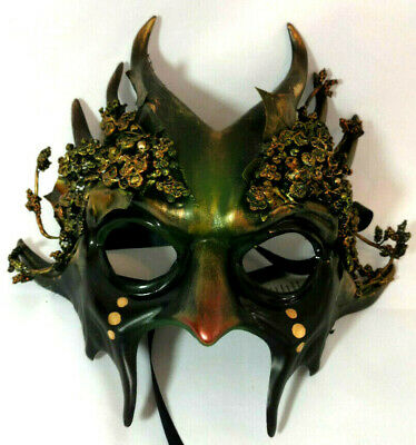 Forest Goblin Witch Mask Pagan Wicca Horror Goth Cosplay Collectible Halloween - Pagan Halloween Mask