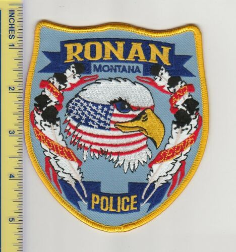 US Police Patch Ronan Montana Police Department