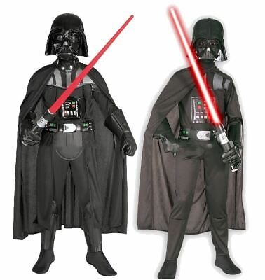 Child Official DARTH VADER Fancy Dress Classic or Deluxe Costume Boys Star Wars
