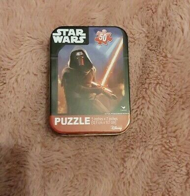 50 Piece Star Wars Jigsaw Puzzle Sealed In A Tin Travel size Tin * NEW *