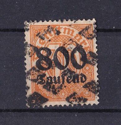 BRIEFM DR DIENSTMARKEN 1923 DIENSTM MIT SCHWARZEM AUFDRUCK 800TSD AUF 30 PF