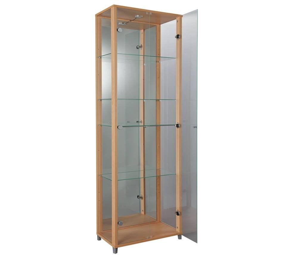 Argos Home 2 Door Glass Display Cabinet Beech Effect Rrp 194 99
