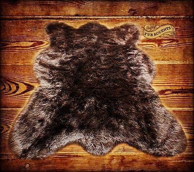 Faux Bear Rugs (Brown Country Bear Skin Rug, Sheepskin Area Rug, Shag Rug, Faux Fur,Handmade)