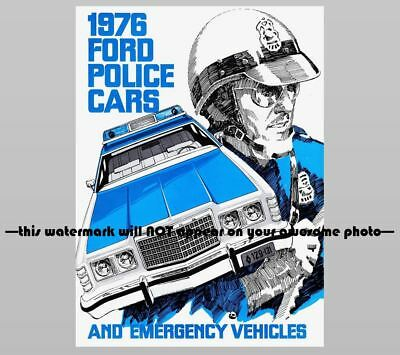 1976 FORD Police Car PHOTO Vintage Ad Policeman Pursuit Vehicles