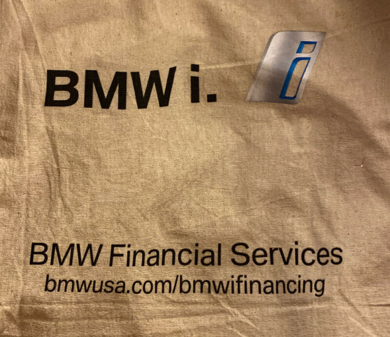 BMW i., Financial Services Canvas Burlap Tote Shopping Bag, Test Drive Promo