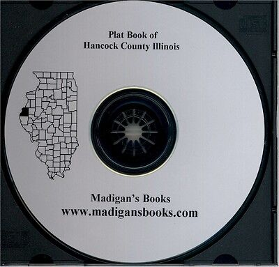 Hancock Co Illinois IL plat genealogy Carthage history land owners CD