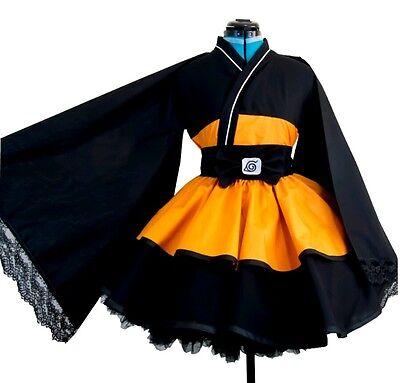 NARUTO Cosplay Costume Lolita Kimono dress Women Kid Girl Halloween Party Dress