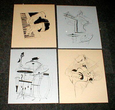 David Stone Martin Dancing Couple Jazz Lithograph