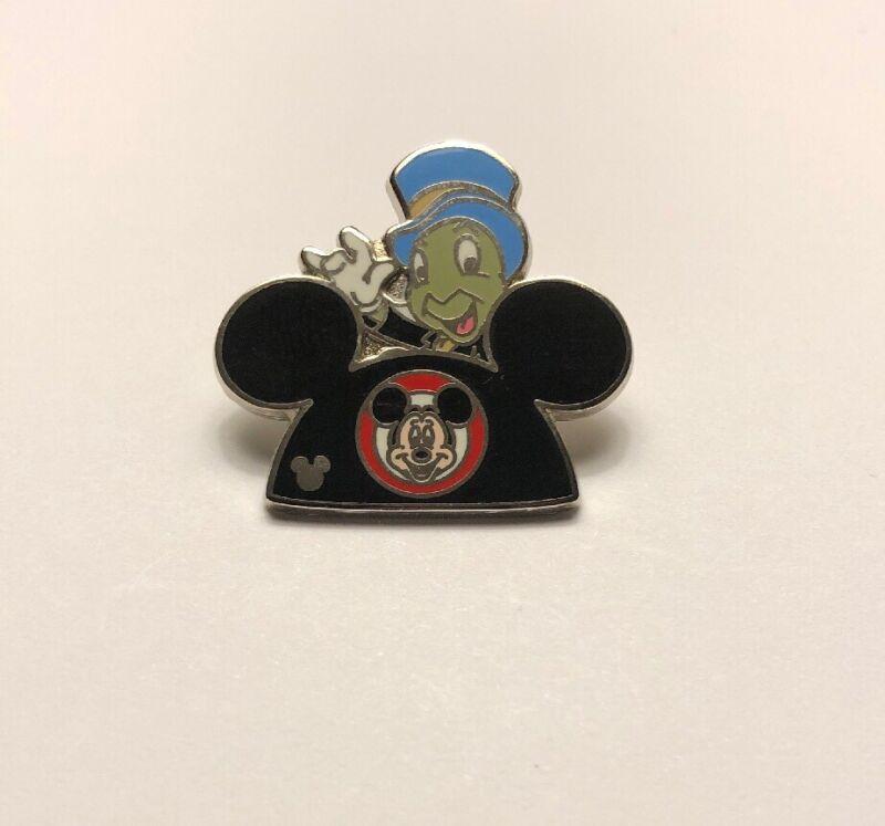 Disney Jiminy Cricket On Mickey Ears Hidden Mickey Lanyard Trading Pin Pinocchio