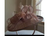 Fascinator worn once beige / pink colour perfect condition