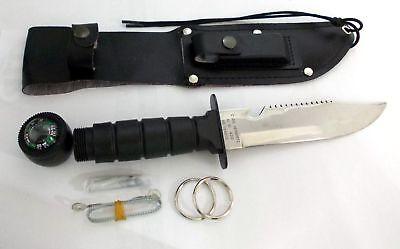 Herbertz Survival Jagd Angel Pfadfinder Messer Kompass Schleifstein Säge