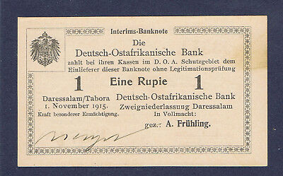 Ros. 918b Deutsch Ostafrika 1 Rupie Unterschrift Menzel, kassenfrisch !!⓱