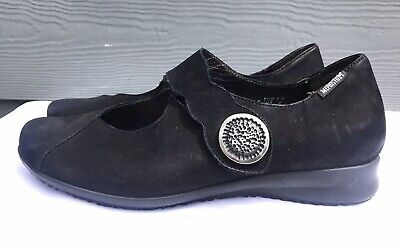 Mephisto Air Jet  Women's Black Suede Mary Jane Sandals Size US 9