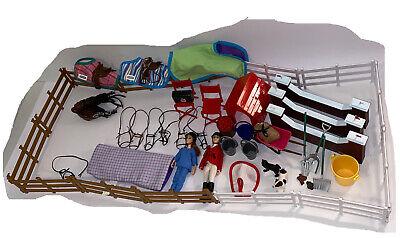 Big Bundle Of Breyer Horse Accessories 9 Saddles Cleaning, Vet Care, Sport, Dog